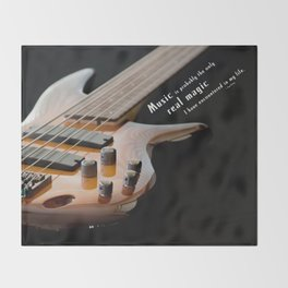 Music is Real Magic Throw Blanket