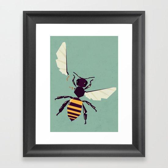 H is for honey bee  Framed Art Print