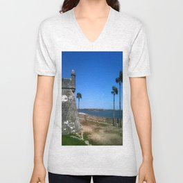 St. Augustine 2012 The MUSEUM Zazzle Gifts - Society6 Unisex V-Neck