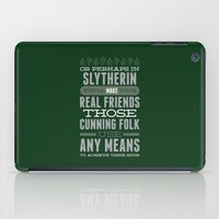 slytherin iPad Cases featuring Slytherin by Dorothy Leigh