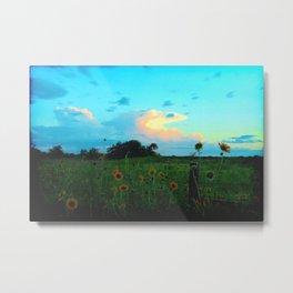 Sunset 07-30-16 Hwy 707 Tye, Texas Metal Print