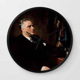 FDR Official Portrait Wall Clock