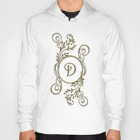 monogram Hoodies featuring Monogram D by Britta Glodde
