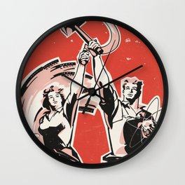 Work Together Wall Clock