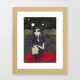 Mary, Seated Framed Art Print
