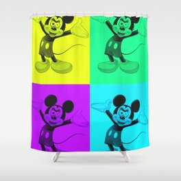 Hell No Mick-ey Shower Curtain