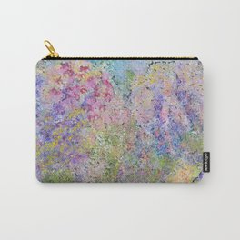 Spring Hydrangeas, Pastel Abstract, Modern Painting Carry-All Pouch