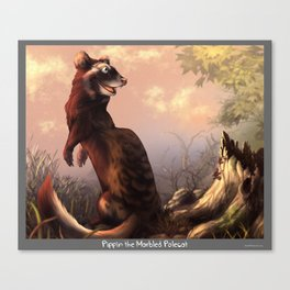 Pippin the Marbled Polecat! Canvas Print