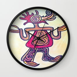 Exotic woodpecker Wall Clock