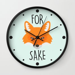 For Fox Sake Wall Clock