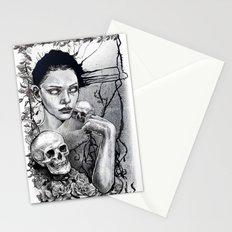Skull Girl Nouveau Stationery Cards