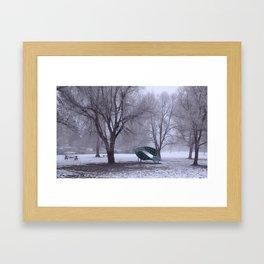 Frozen Park Framed Art Print