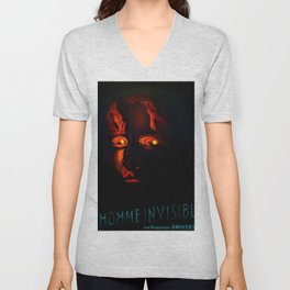 1933 Vintage 'The Invisible Man'  French Moyenne Movie Poster Unisex V-Neck