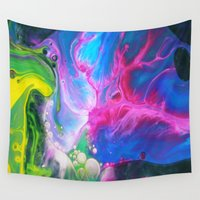oil Wall Tapestries featuring Oil-y by Sr. xx