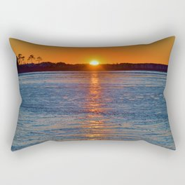 Frozen Bay Sunset Rectangular Pillow