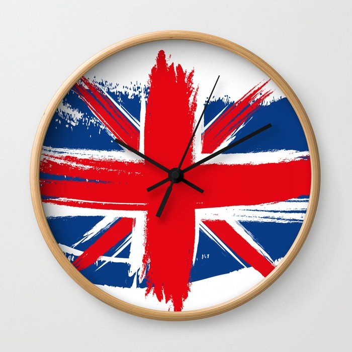 Sketched Union Jack Wall Clock