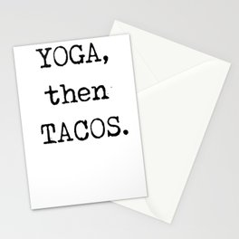 YOGA then TACOS Funny Graphic Novelty Stationery Cards