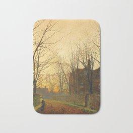 John Atkinson Grimshaw - Late October - Victorian Retro Vintage Painting Bath Mat