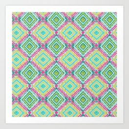 Funky Bandhani Bandhej Neon Bold Colors Art Print