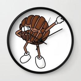 Chocolate Concha Dab Mexican Bread Holiday Wall Clock