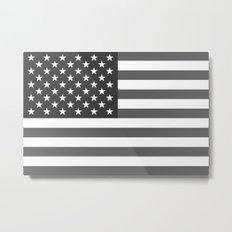 American flag in Gray scale Metal Print