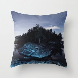 Lake in the Sky Throw Pillow