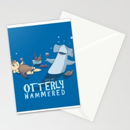 Otterly Hammered Stationery Cards