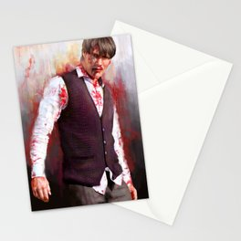 "Mads ""Hannibal"" Mikkelsen  Stationery Cards"