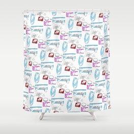 Squares Intestines Shower Curtain