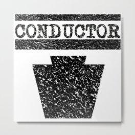 Conductor - Keystone Logo Metal Print