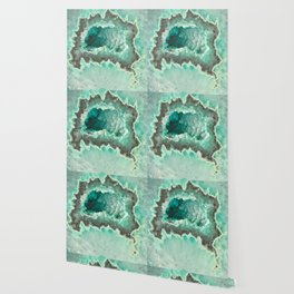 Minty Geode Crystals Wallpaper