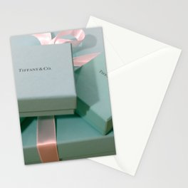 Pile of Boxes Tiffany Blue Style Stationery Cards