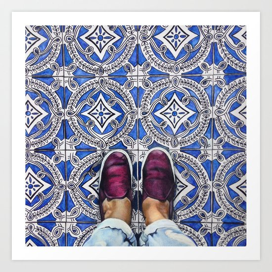 Art Beneath Our Feet - Ancona, Italy Art Print