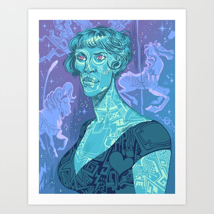 Body Electric Art Print