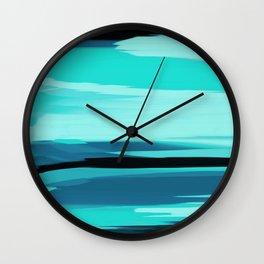 Soft Determination Aquamarine Wall Clock