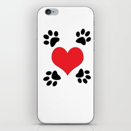Hearts and 4 Paws iPhone Skin