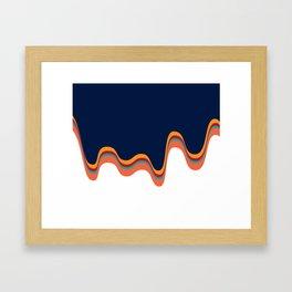 Color Drip Framed Art Print