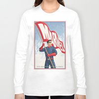 bucky barnes Long Sleeve T-shirts featuring Bucky Barnes by Arne AKA Ratscape