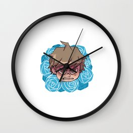 Blue roses of Hope Wall Clock