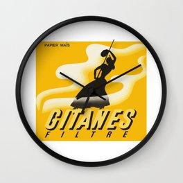 GITANES 3 Wall Clock