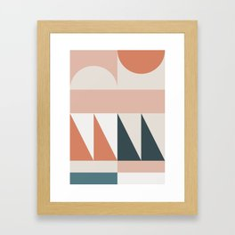 Cirque 04 Abstract Geometric Framed Art Print