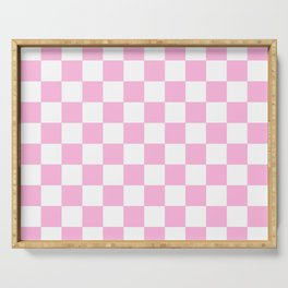 Checkered (Pink & White Pattern) Serving Tray