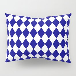 Rhombus (Navy Blue/White) Pillow Sham