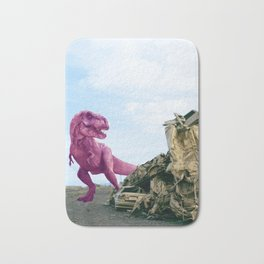 Pink and Gold Cars Bath Mat