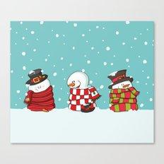 Wrapped Snowmen Canvas Print