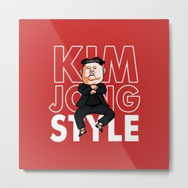 Oppa Kim Jong Style Metal Print