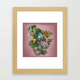 Succulent gardens Framed Art Print
