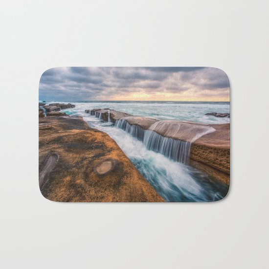 Ocean waves landscape Bath Mat