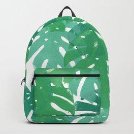 Monstera deliciosa | Green Palette  Backpack