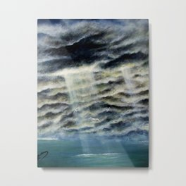 LIGHT THRU THE STORM Metal Print